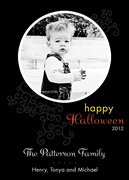 halloween photo cards - Swirls