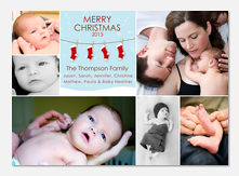 Stockings -  Baby Holiday Cards