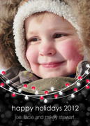 Lights -  Baby Holiday Cards