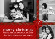 Red Plaid Wrap - photo Christmas cards