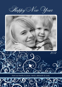 Winter Swirl - new years photo cards