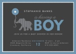 Baby Shower Invitations - Baby Elephant Boy