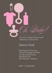 Photo Baby Shower Invites - Baby Bag Pink