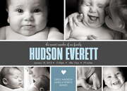 Family Heart - Baby Boy Announcements