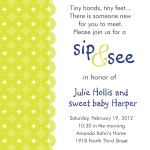 Baby Shower Invites - Sweet Lime Blue