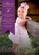 Bright Ribbon Baby -  Girl Party Invitations