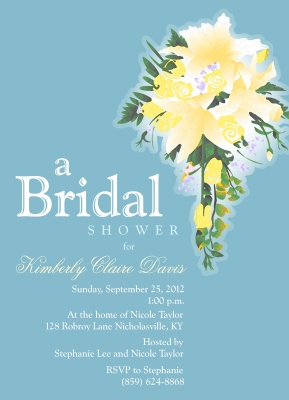 Bridal Shower Invitations, Bridal Bouquet Design