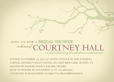 Bridal Shower Invitations, Budding Bride Design
