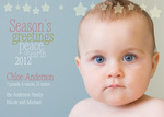 Holiday Baby Announcements - Peaceful Stars