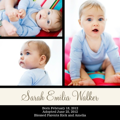 Birth Announcements, Special Simply Stunning Design
