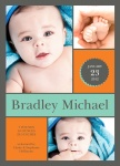 Boy Photo Birth Announcements - Block Check