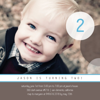 Kids Birthday Invitations, Tell Me Too Blue Design