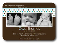 Sweet Dots -  Adoption Birth Announcements