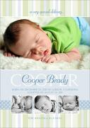 Nursery Blue -  Adoption Birth Announcements