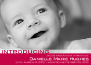 Adoption Birth Announcements - Cherry Chic