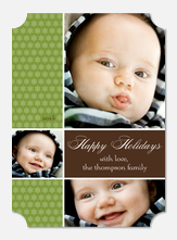 Baby Christmas Cards - Happy Bubbles
