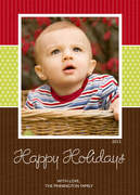 Holiday Weave -  Baby Holiday Cards