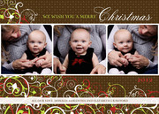 Baby Holiday Cards - Sweet Swirl Christmas