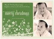 Christmas Flowers - Baby Christmas Cards