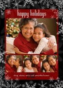 Vermillion Happy-Grandparents Holiday Cards