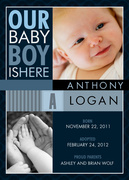 Adoption Announcements - Little Navy Boy