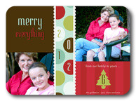 Frilly Merry-Grandparents Holiday Cards