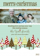 Grandparents Holiday Cards - Christmas Tree Scene