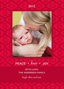 Baby Christmas Cards - Joy Frame