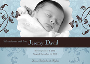 Adoption Birth Announcements - Sky Blue Beauty