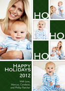 Happy Ho Ho -  Baby Holiday Cards