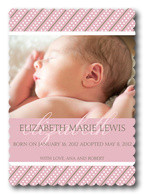 Adoption Birth Announcements - Swiss Love Dot