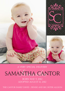Very Special Girl -  Adoption Birth Announcements