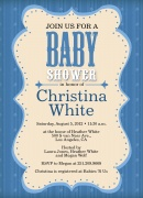 Baby Shower Invitations - Blueberry Baby