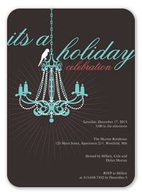 Christmas Party Invitations - Chandelier Swing