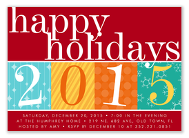 Red Holiday Fete - Holiday Party Invitations