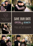 Photo Save the Date Cards - Modern Heart Date