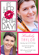 Birthday Kiss -  Adult Birthday Party Invitations