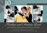 10 Times Love - Wedding Anniversary Invitations