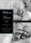 Wedding Anniversary Invitations - White Gold