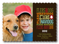 Dog Christmas Cards - Fleas Navidog Day