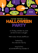 Halloween Party Invitations - Candy Hat