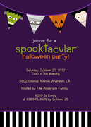 Halloween Party Invitations - Purple Spooktacular