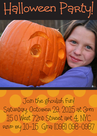 Halloween Party Invitations, And Pumpkins Too! Design