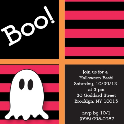 Halloween Party Invitations, Boo To You! Design