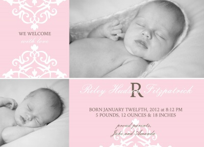 Birth Announcements, Princess' Design Design