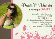 Rose Garden - Baby Shower Invitations