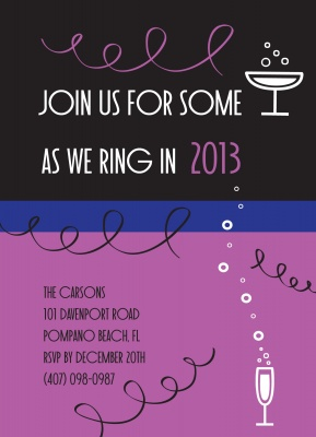 Holiday Party Invitations, Bubbling Bubbly Design