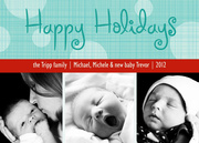 Criss Cross Holidays - Baby Christmas Cards