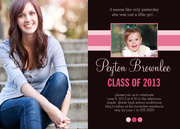 Fly By Rose - graduation party invitations