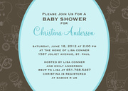 Baby Shower Invitations - Baby Toys Blue